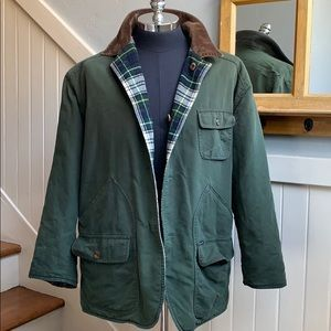 Faconnable Hunter Green Reversible to Plaid Jacket